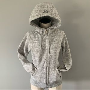 TNA Zip Up Hoodie Light Grey Heathered Size Small